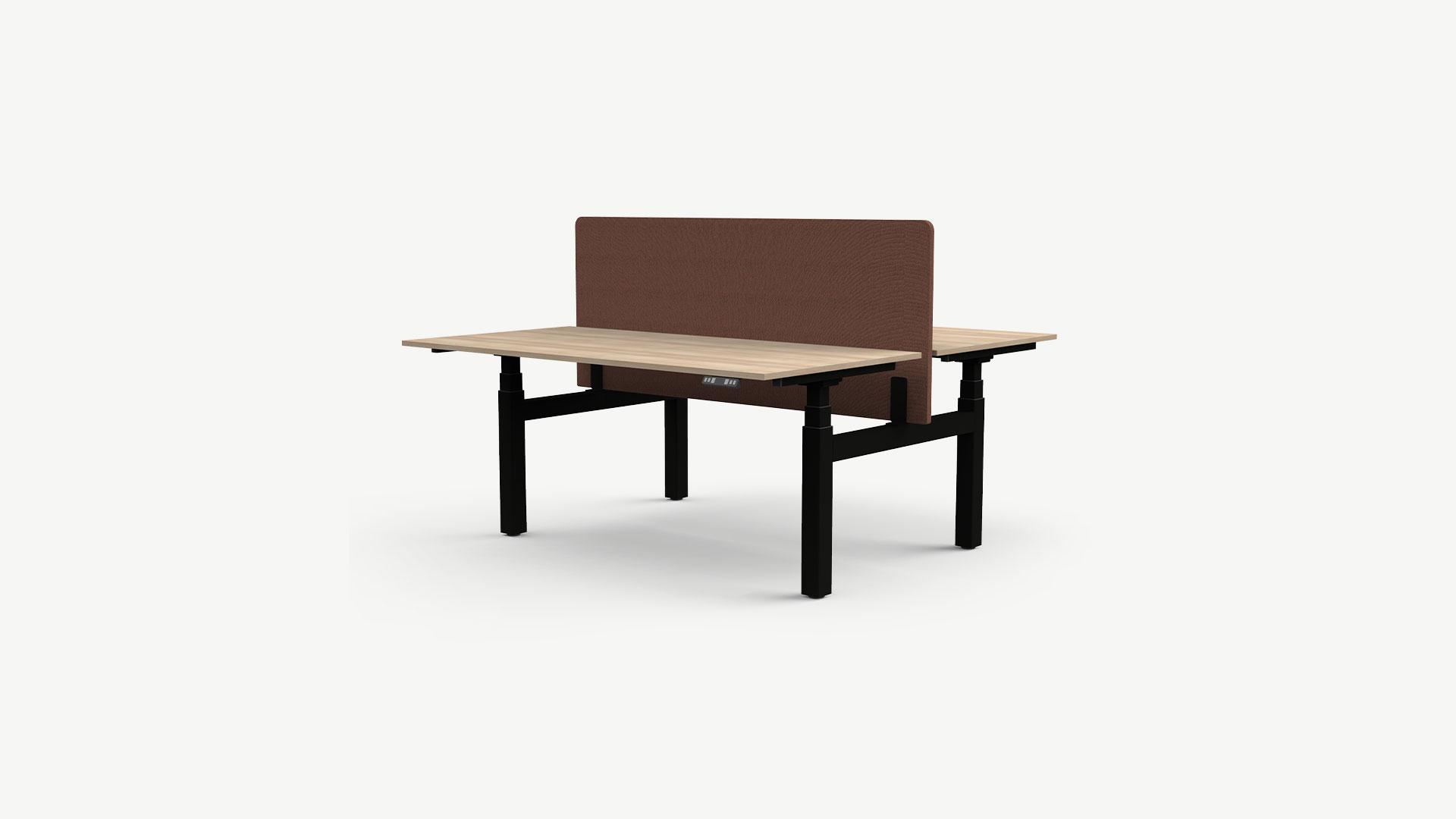 Nowy Styl höhenverstellbarer Schreibtisch Kombi eUP 3S, H-Fuß-Gestell