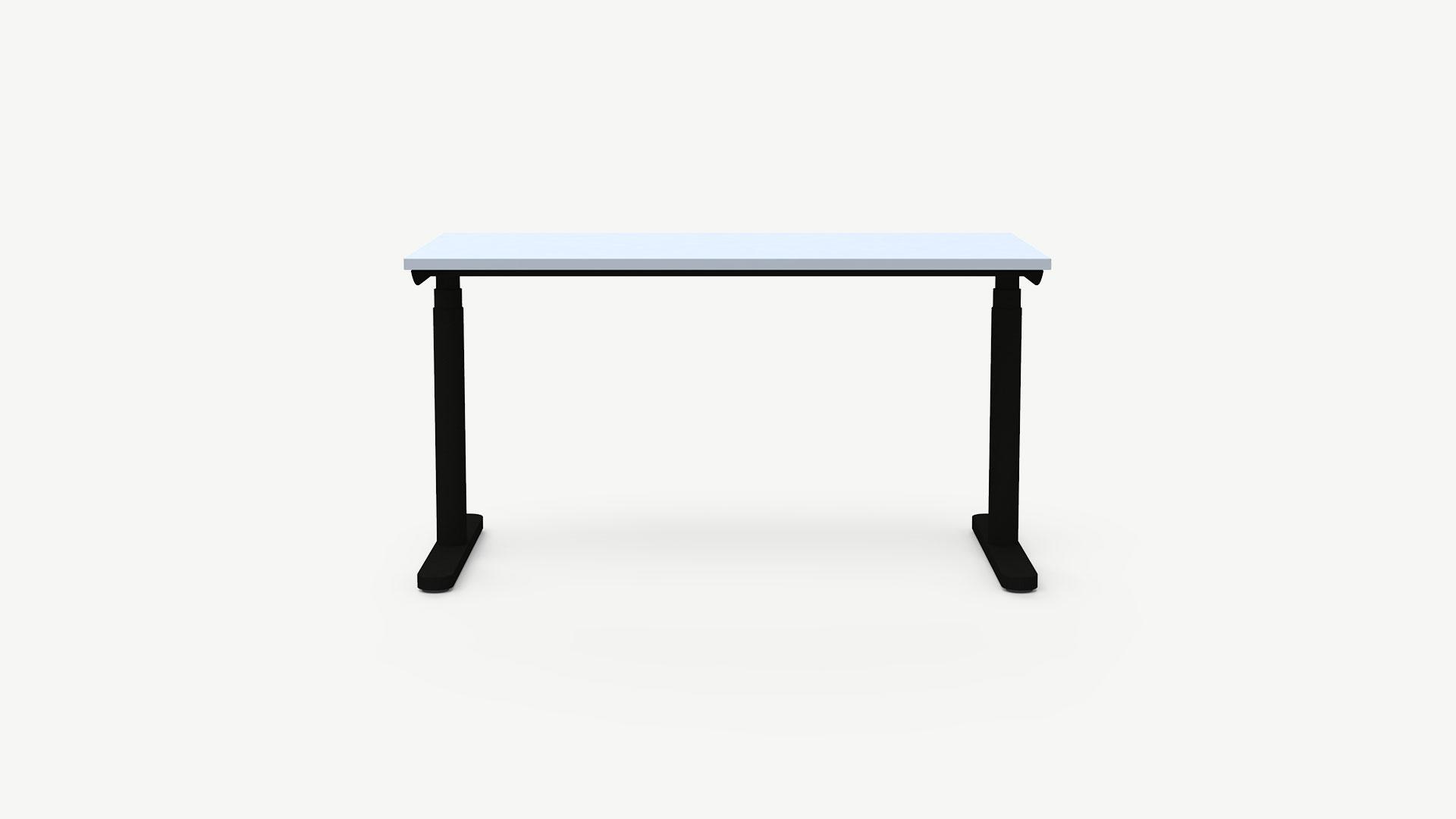 Nowy Styl manuell höhenverstellbarer Schreibtisch Play & Work, T-Fuß-Gestell